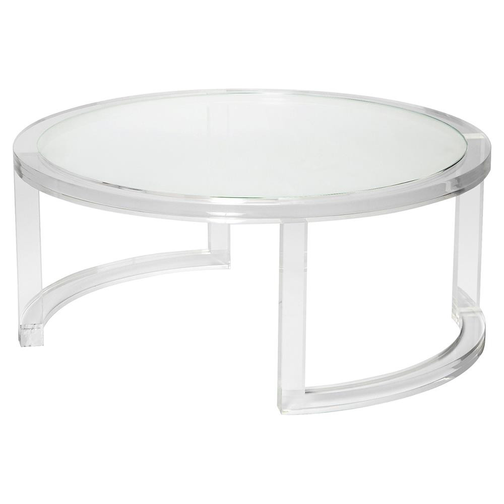 Best ideas about Clear Coffee Table . Save or Pin Interlude Ava Modern Round Clear Glass Acrylic Coffee Table Now.