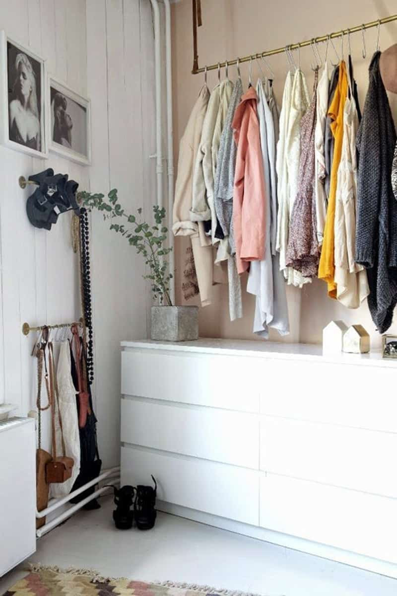 Best ideas about Clothes Storage Ideas For Small Spaces . Save or Pin Ideas for Storing Clothes without Closets Now.