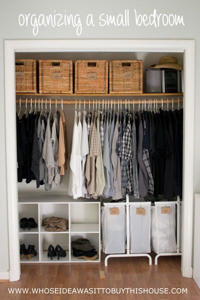 Best ideas about Clothes Storage Ideas For Small Spaces . Save or Pin How We Organized Our Small Bedroom in 2019 Now.