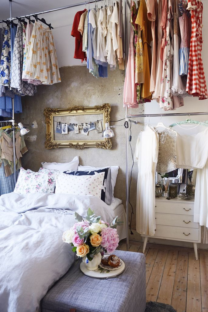 Best ideas about Clothes Storage Ideas For Small Spaces . Save or Pin 15 Clever Closet Ideas for Small Space Pretty Designs Now.
