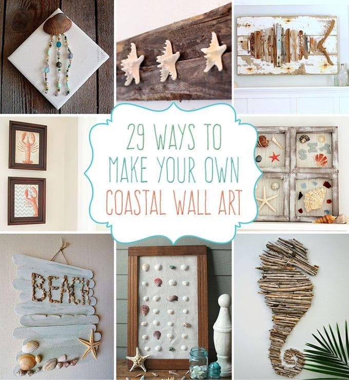 Best ideas about Coastal Wall Art . Save or Pin 29 Beach Crafts Coastal DIY Wall Art Now.