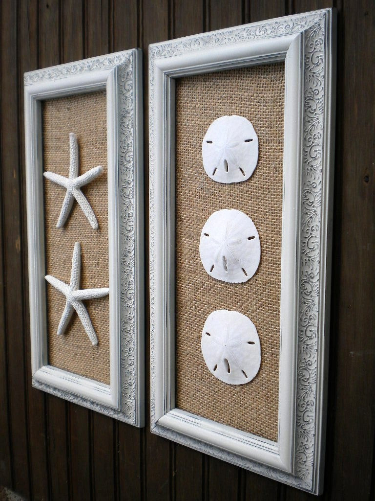 Best ideas about Coastal Wall Art . Save or Pin Coastal Decor Cottage Chic Framed Starfish Wall Art Dorm Now.