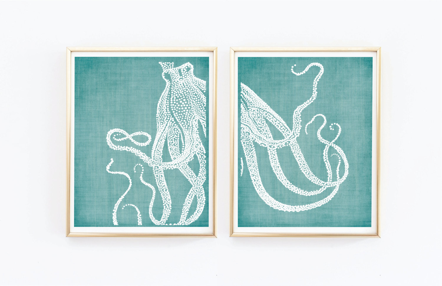 Best ideas about Coastal Wall Art . Save or Pin Octopus Prints Coastal Wall Decor Beach Decor Nautical Now.