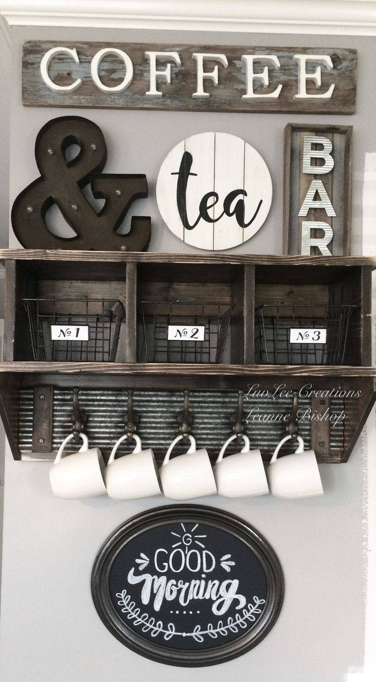 Best ideas about Coffee Kitchen Decor Walmart . Save or Pin 30 Best Collection of Cafe Latte Kitchen Wall Art Now.