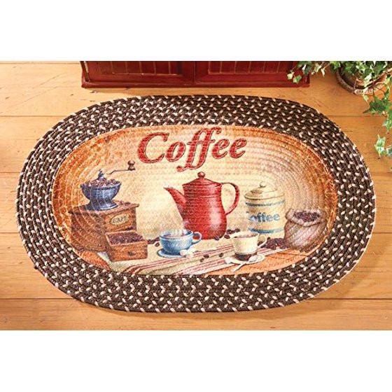 Best ideas about Coffee Kitchen Decor Walmart . Save or Pin Braided Kitchen Coffee Accent Rug Walmart Now.