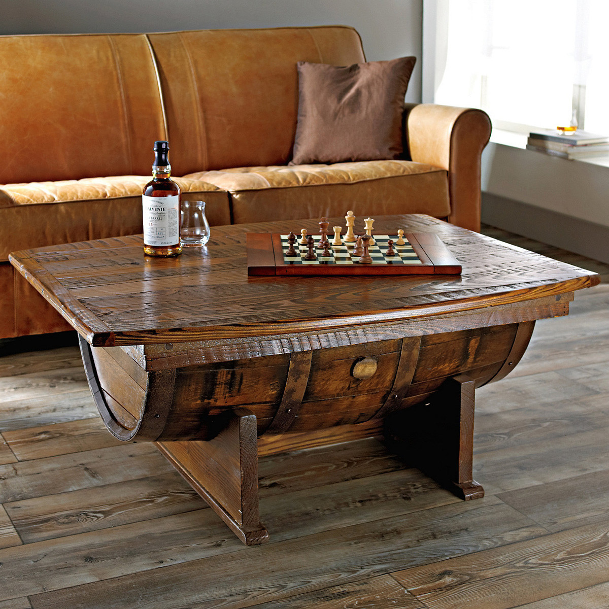 Best ideas about Coffee Table For Sale . Save or Pin Handmade Vintage Oak Whiskey Barrel Coffee Table Now.