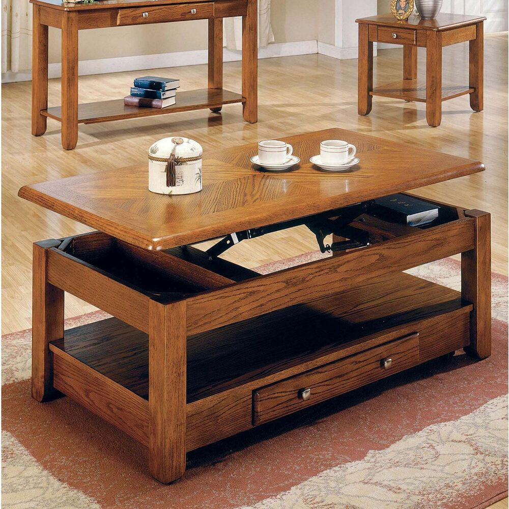 Best ideas about Coffee Table Lift Top . Save or Pin Logan Oak Lift Top Cocktail Table Furniture Living Room Now.