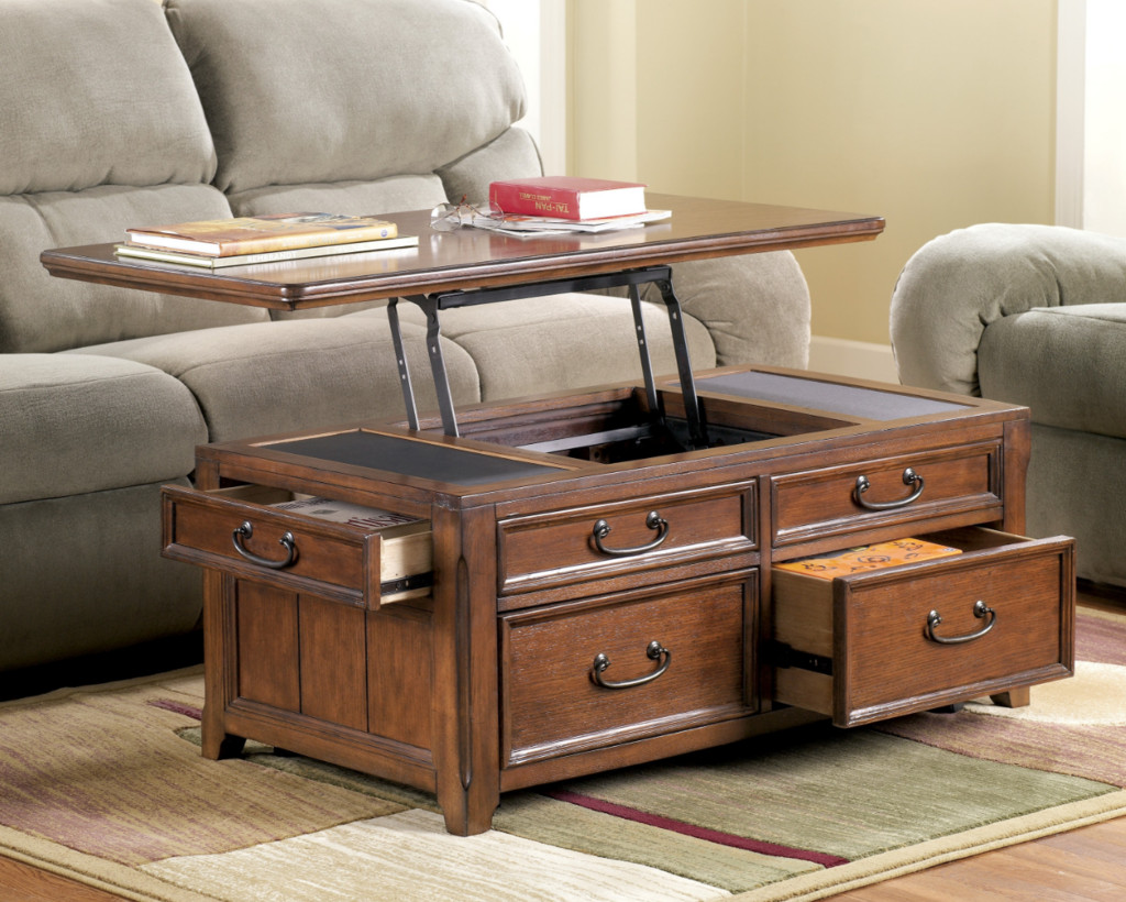 Best ideas about Coffee Table Lift Top . Save or Pin Lift Top Trunk Style Coffee Table with Storage Drawers Oak Now.