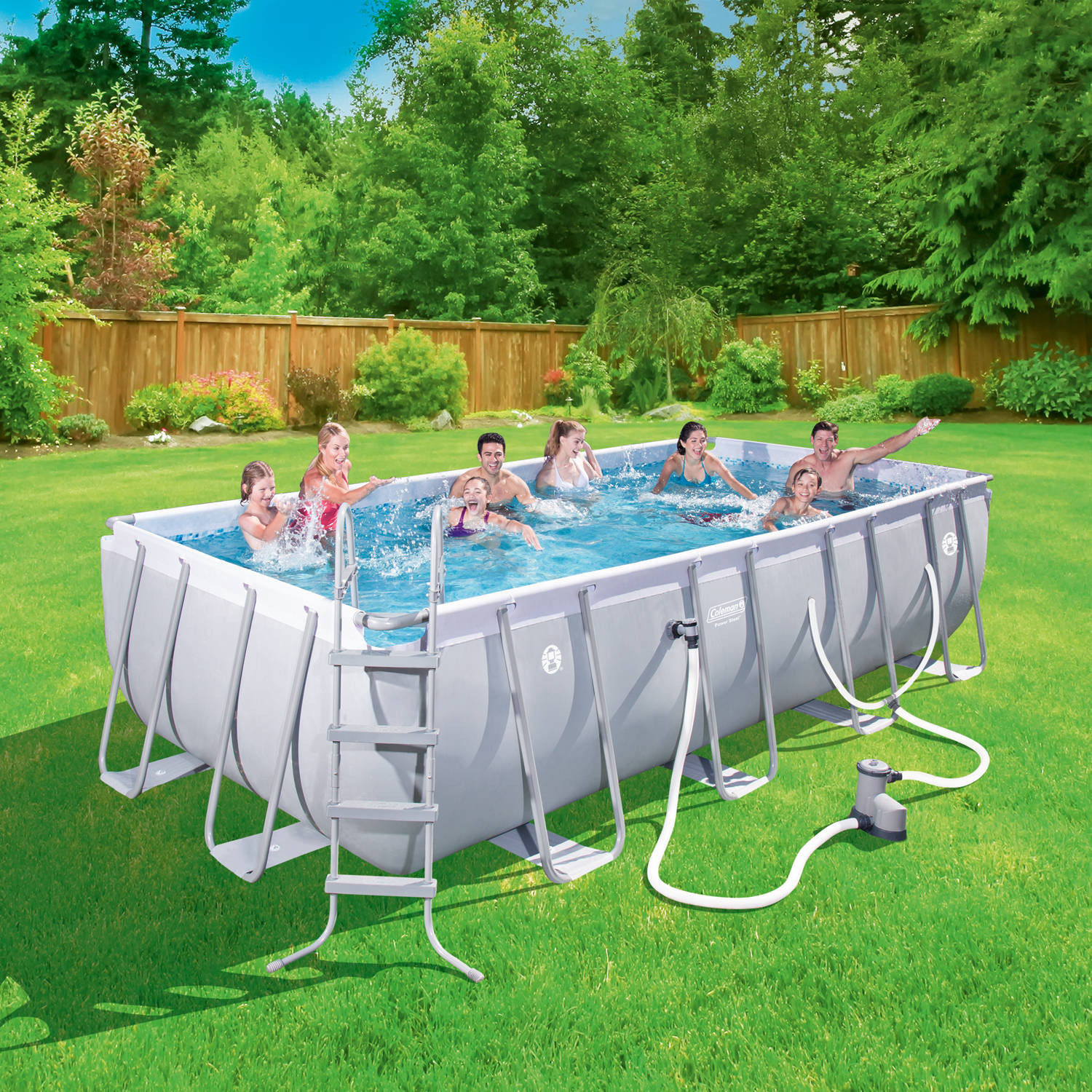 """Best ideas about Coleman Above Ground Pool . Save or Pin 18x9 Coleman Power Steel 48"""" Rectangular Frame Pool Set Now."""