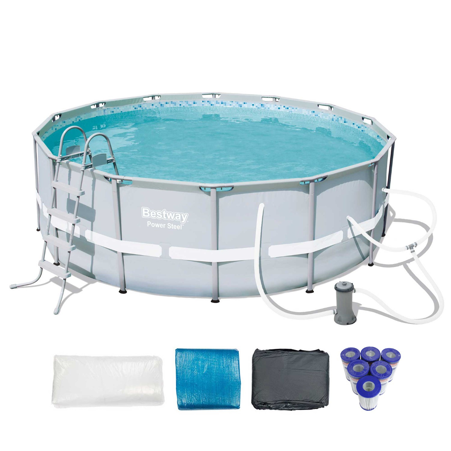 """Best ideas about Coleman Above Ground Pool . Save or Pin Bestway 14 x 48"""" Power Steel Frame Ground Pool Set Now."""