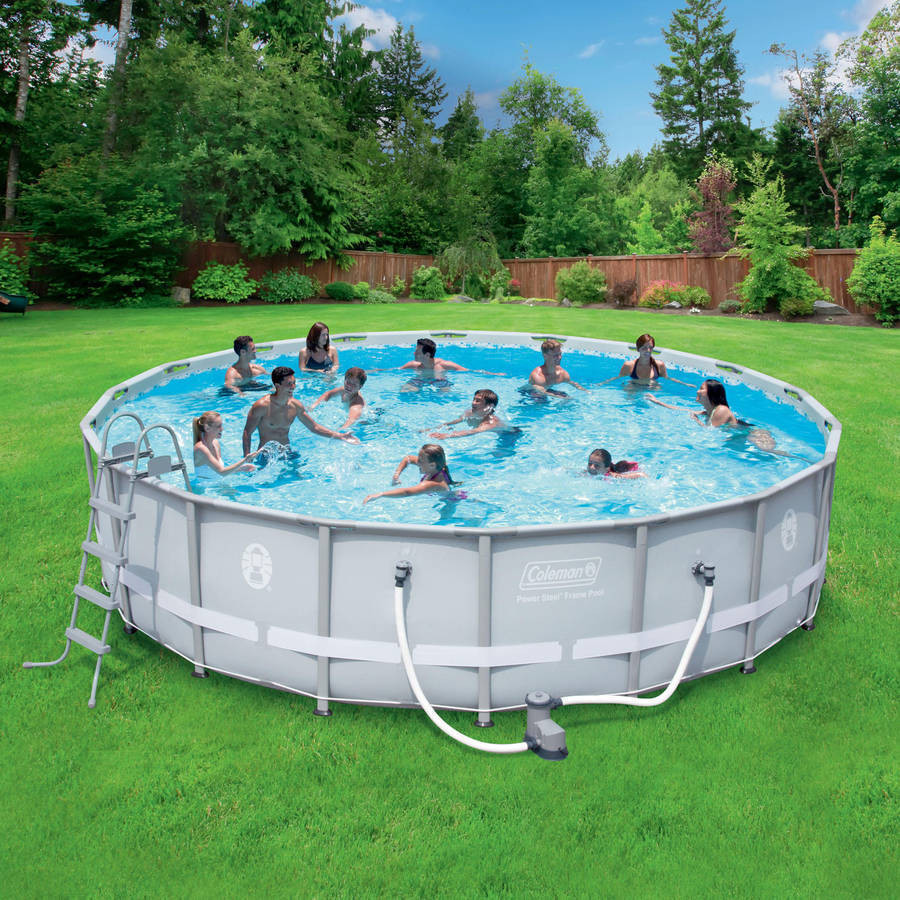 Best ideas about Coleman Above Ground Pool . Save or Pin Coleman 18 Round Swimming Pool Ground Power Steel Now.
