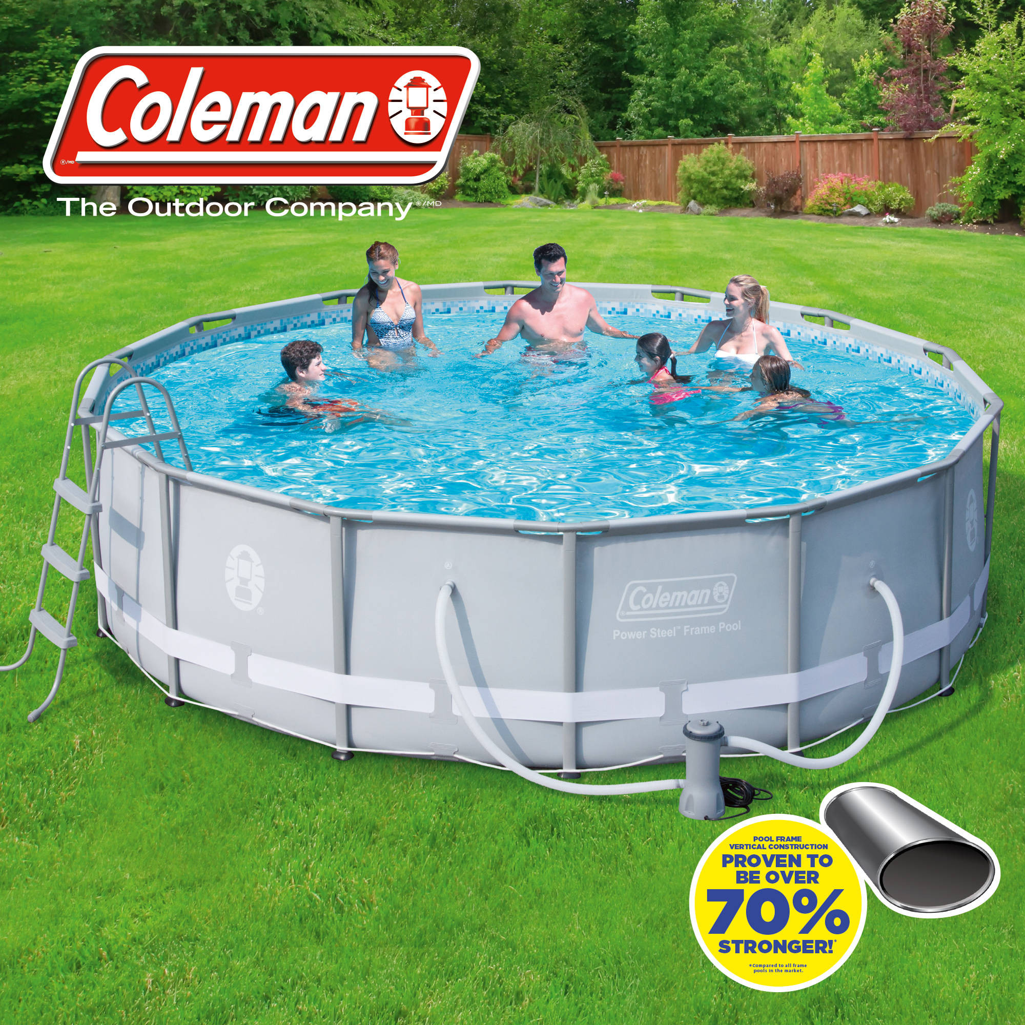 """Best ideas about Coleman Above Ground Pool . Save or Pin Coleman 14 x 42"""" Power Steel Frame Ground Swimming Now."""