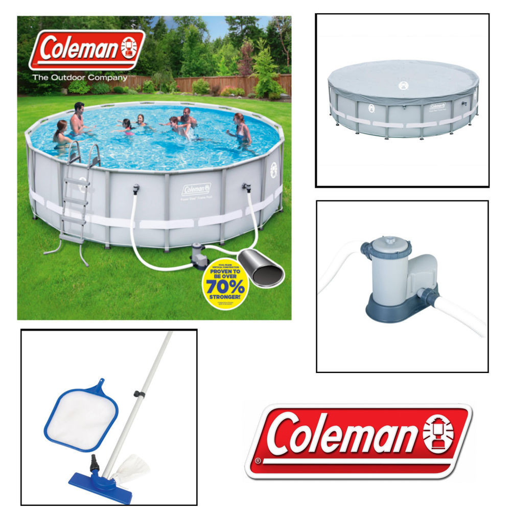 """Best ideas about Coleman Above Ground Pool . Save or Pin Coleman 16 x 48"""" Steel Frame Ground Swimming Pool Now."""