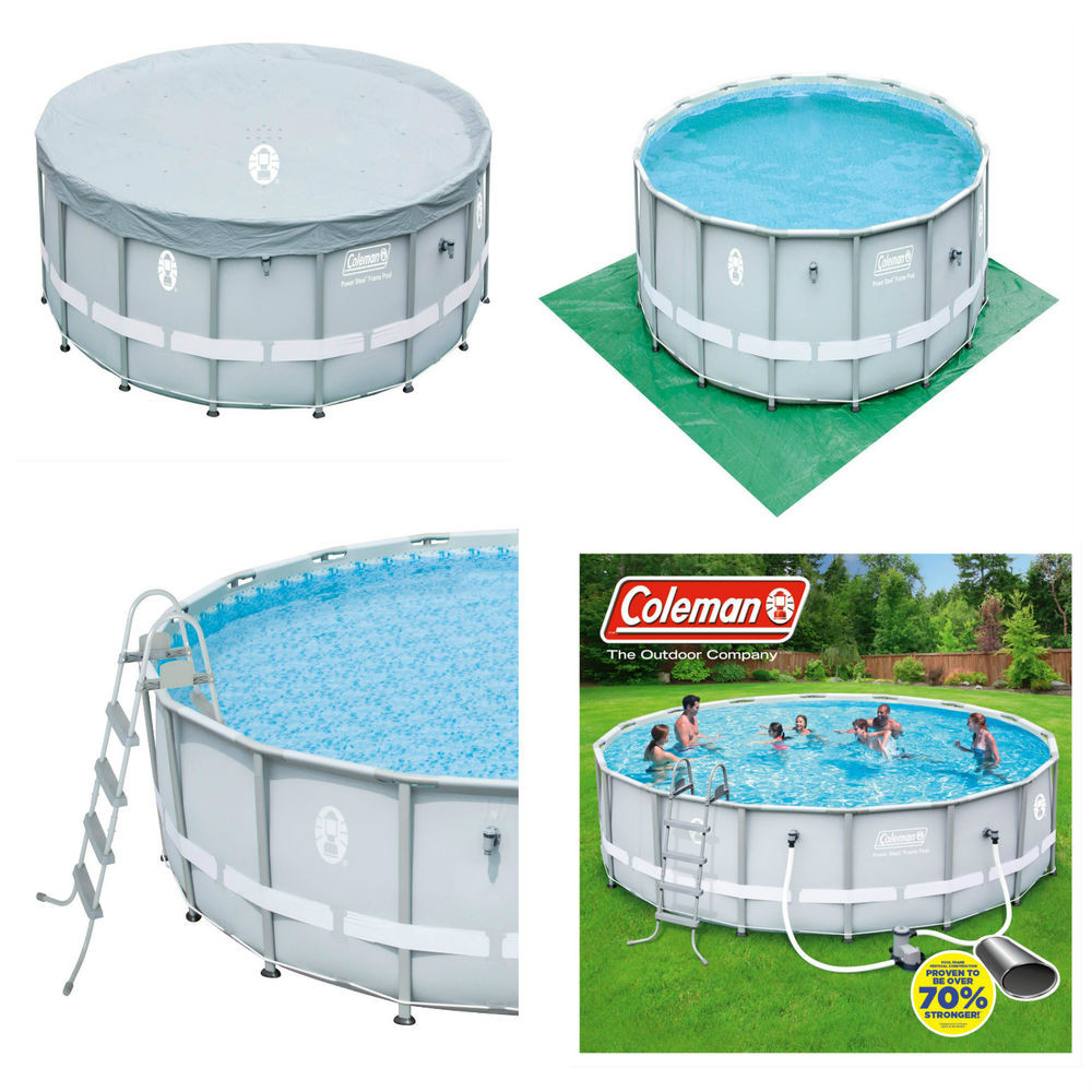 """Best ideas about Coleman Above Ground Pool . Save or Pin Coleman 16 x 48"""" Power Steel Frame Ground Swimming Now."""