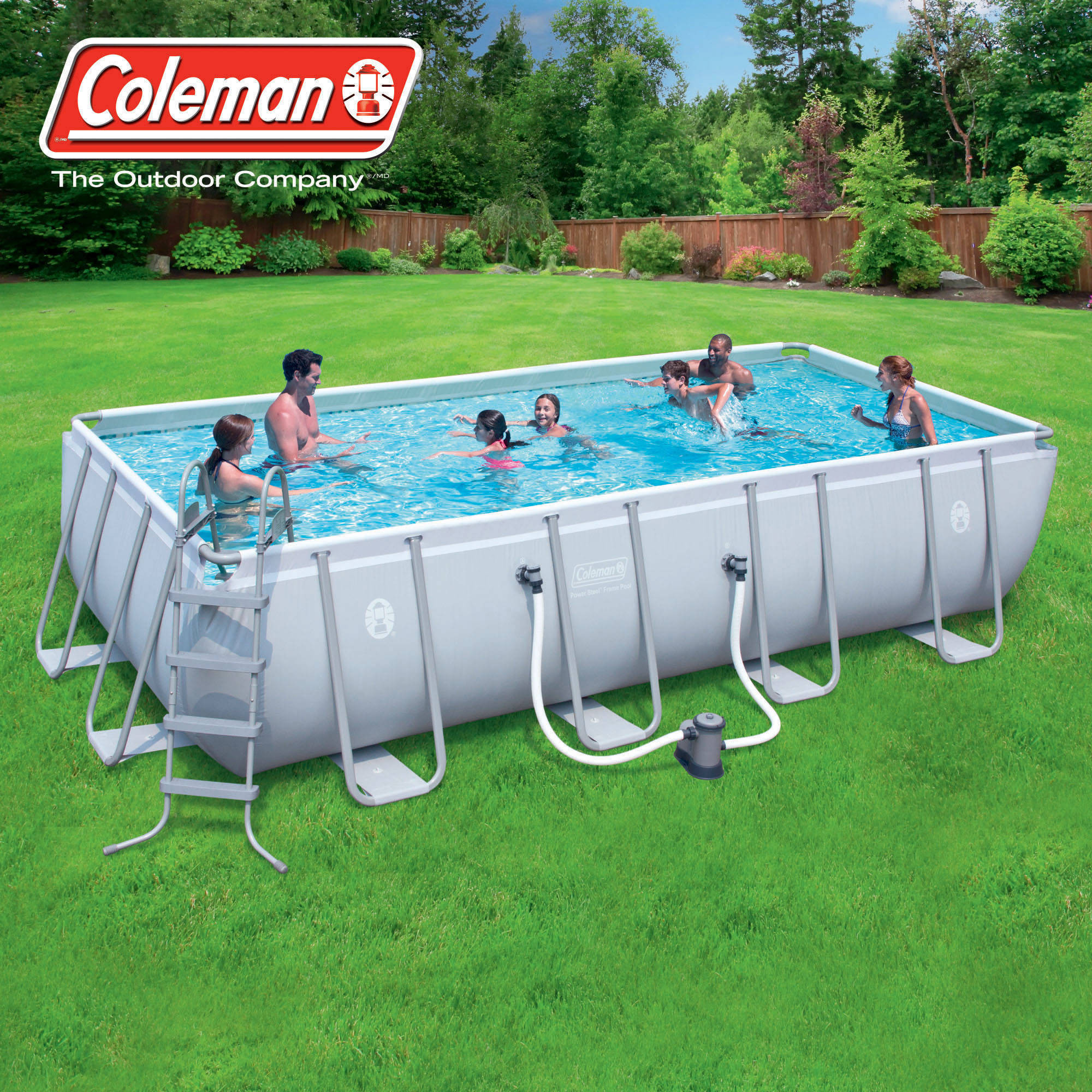 """Best ideas about Coleman Above Ground Pool . Save or Pin Coleman 18 x 9 x 48"""" Power Steel Rectangular Frame Now."""