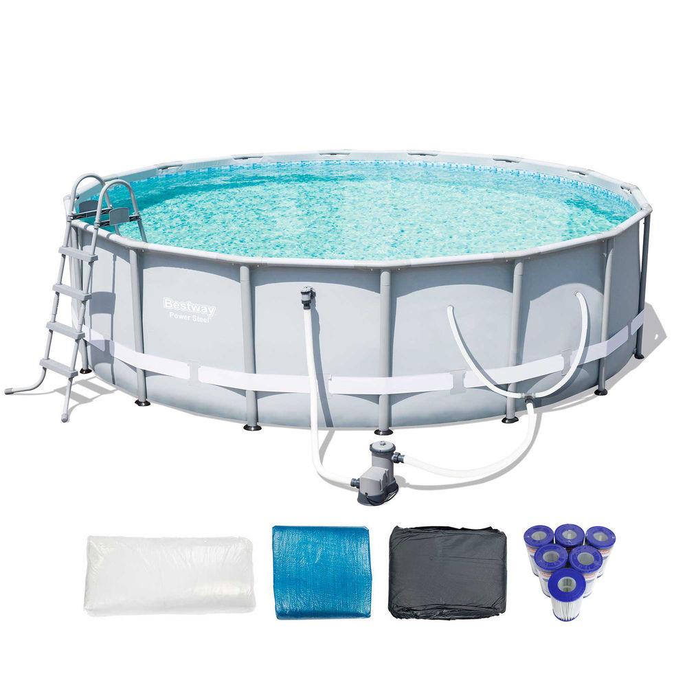 """Best ideas about Coleman Above Ground Pool . Save or Pin Bestway 16 x 48"""" Power Steel Frame Ground Pool Set Now."""
