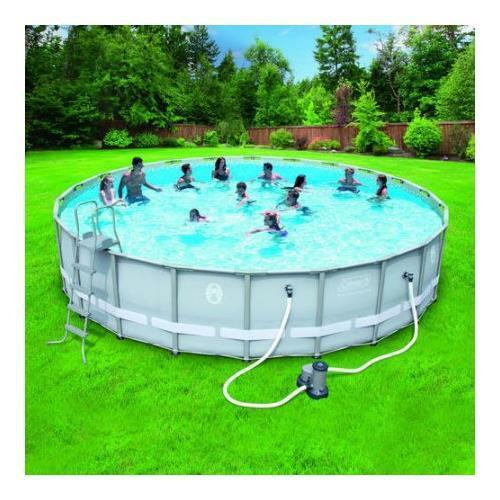 Best ideas about Coleman Above Ground Pool . Save or Pin Coleman 22 x52 Power Steel Frame Ground Swimming Now.