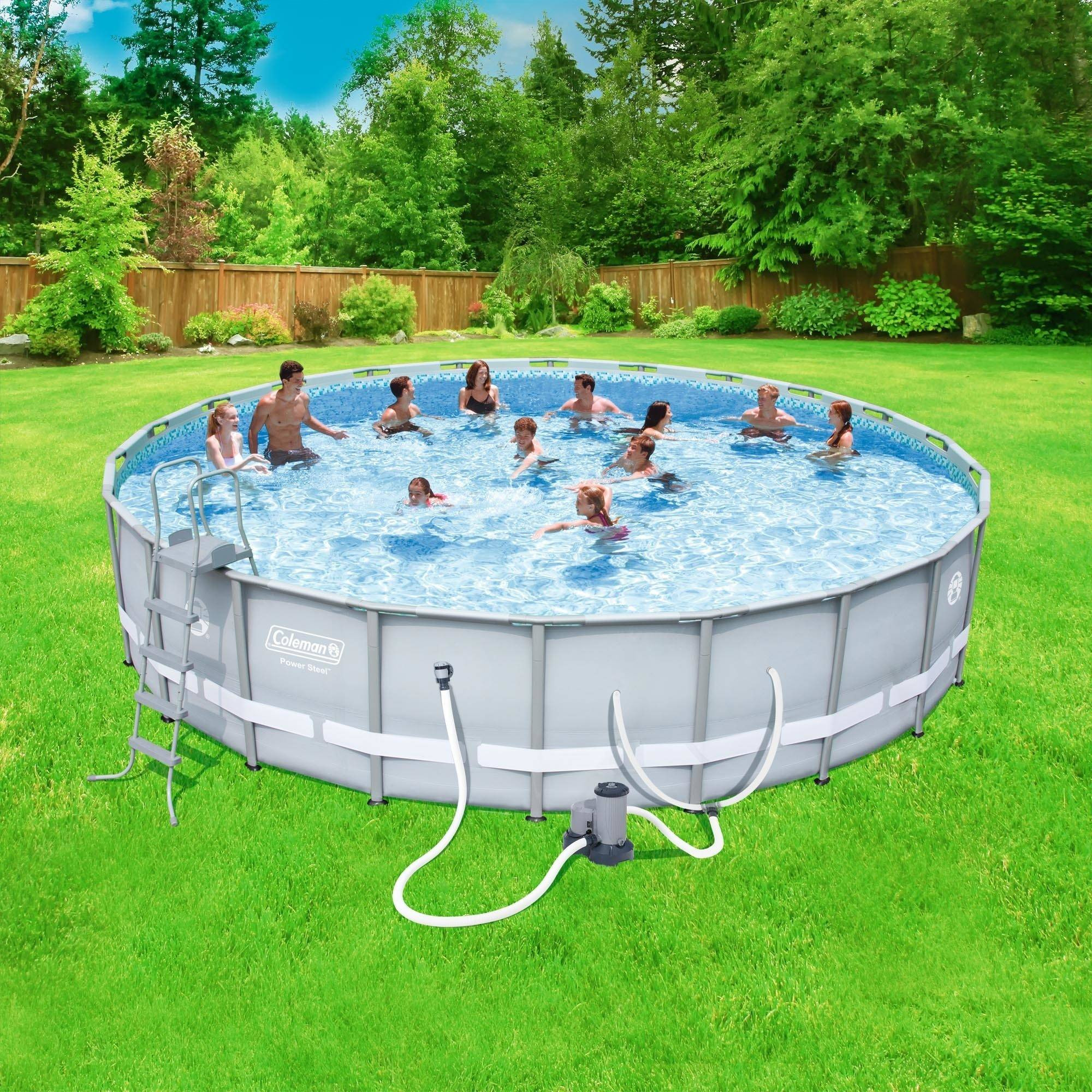 """Best ideas about Coleman Above Ground Pool . Save or Pin Coleman Power Steel 22 x 52"""" Frame Pool Set $362 79 Now."""