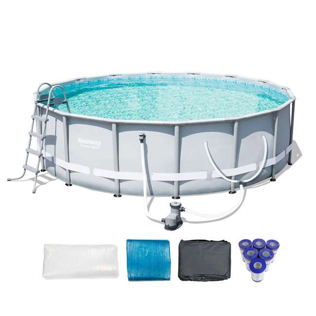 """Best ideas about Coleman Above Ground Pool Parts . Save or Pin Bestway 16 x 48"""" Power Steel Frame Ground Pool Set Now."""