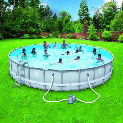"""Best ideas about Coleman Above Ground Pool Parts . Save or Pin Intex 14 x 42"""" Ultra Frame Ground Swimming Pool Now."""