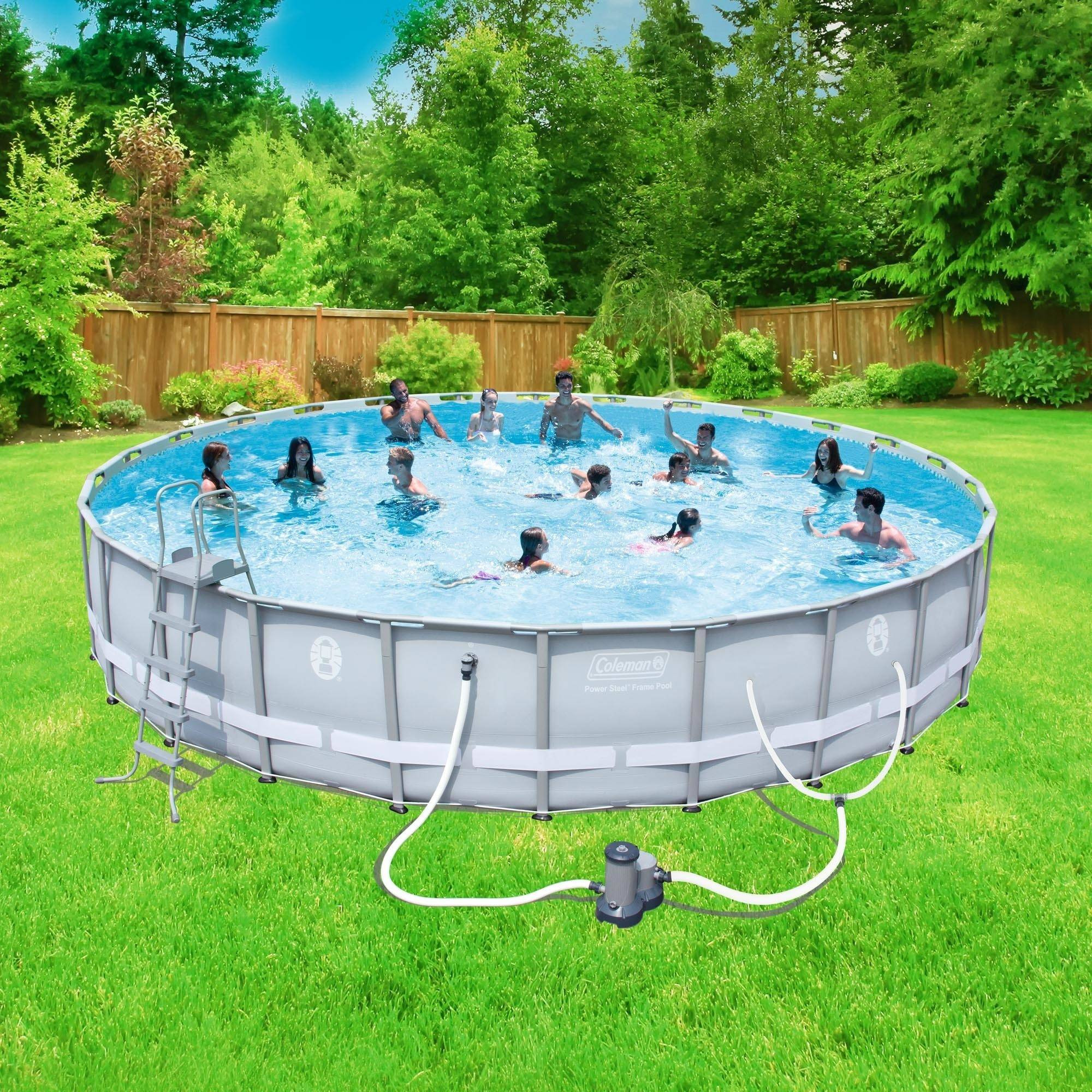 """Best ideas about Coleman Above Ground Pool Parts . Save or Pin ProSeries 14 X 42"""" Metal Frame Swimming Pool with Deluxe Now."""