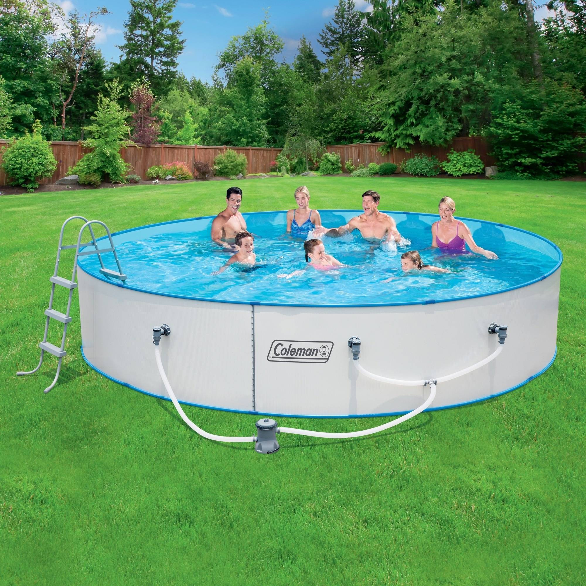 """Best ideas about Coleman Above Ground Pool . Save or Pin Coleman 15 x 36"""" Steel Wall Fast Set Ground Now."""