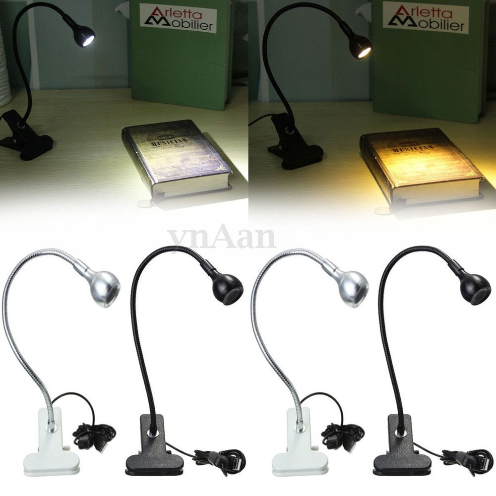 Best ideas about Computer Desk Lamp . Save or Pin USB Flexible Reading LED w Clip Bedside Bed Table Desk Now.