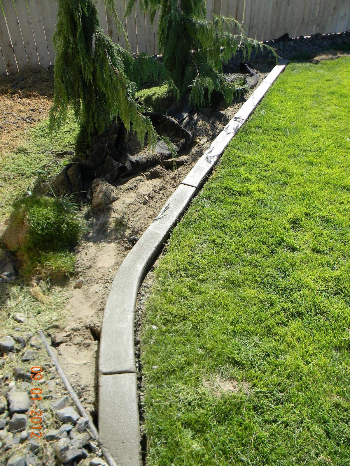 Best ideas about Concrete Landscape Curbing . Save or Pin Home Is Where They Love You DIY Landscaping Curb Now.