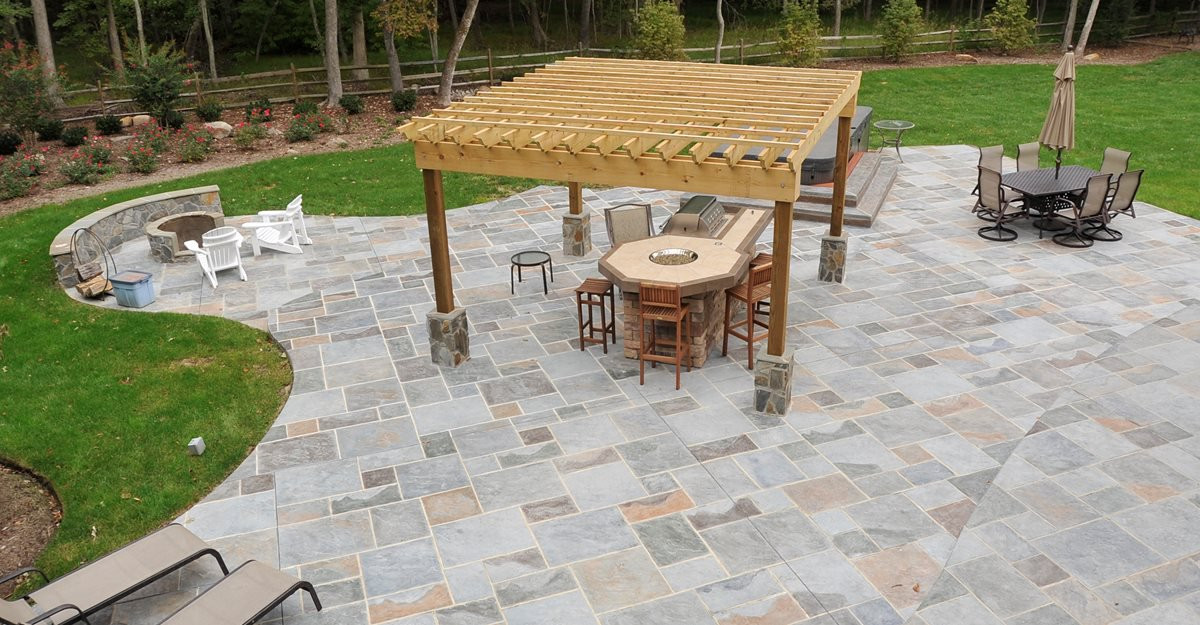Best ideas about Concrete Patio Ideas . Save or Pin Concrete Patio Patio Ideas Backyard Designs and s Now.