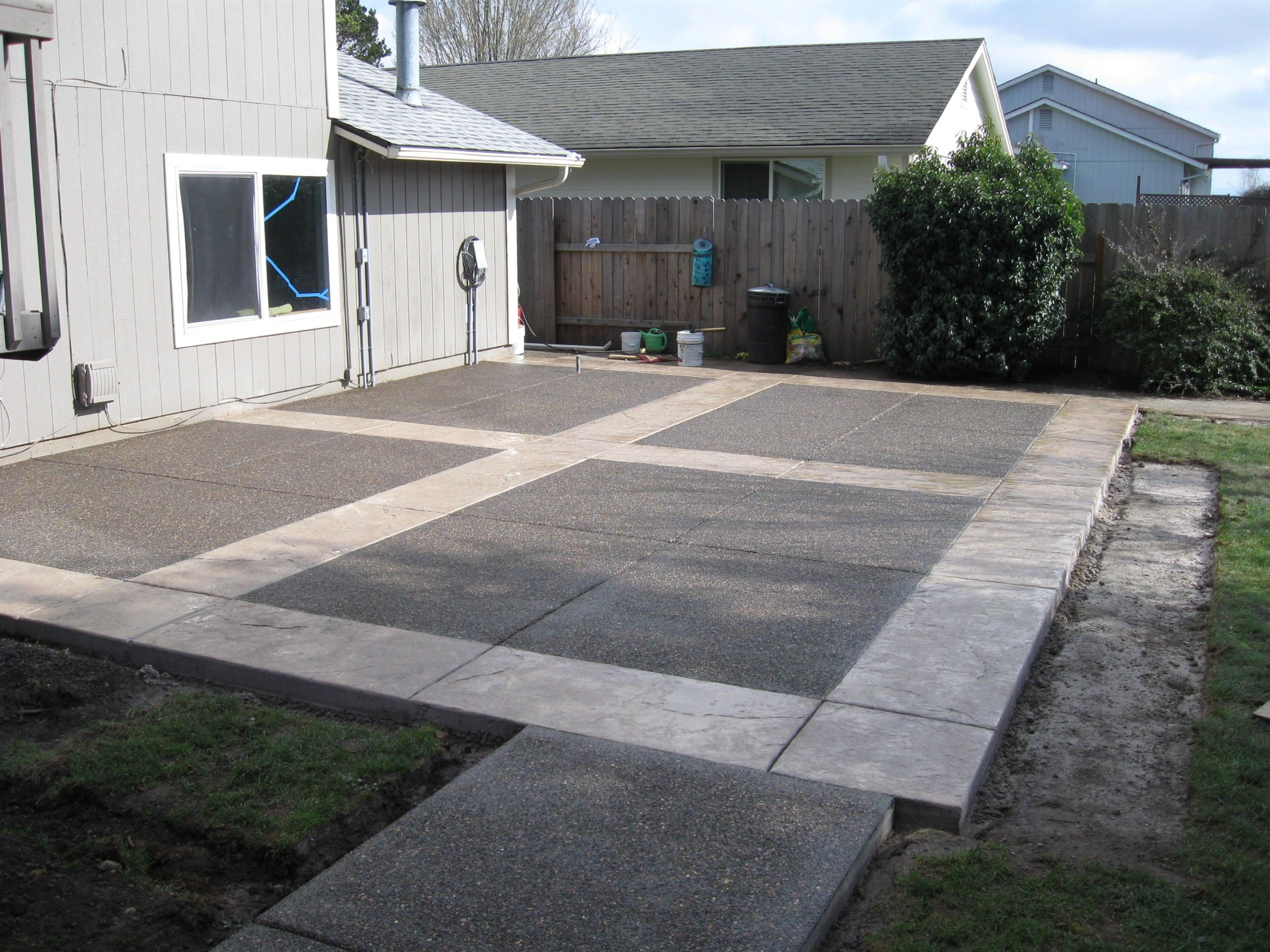 Best ideas about Concrete Patio Ideas . Save or Pin easy cement backyards Google Search Now.