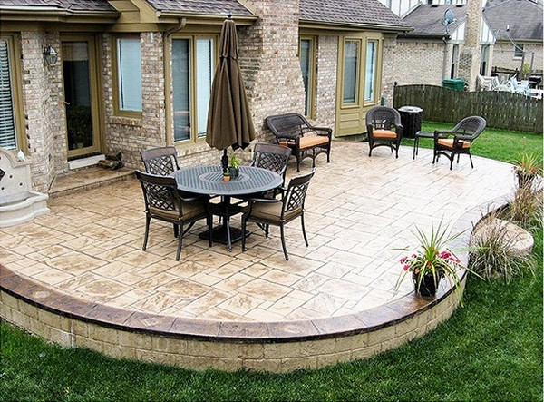 Best ideas about Concrete Patio Ideas . Save or Pin Stamped concrete adds depth and beauty to the exterior Now.