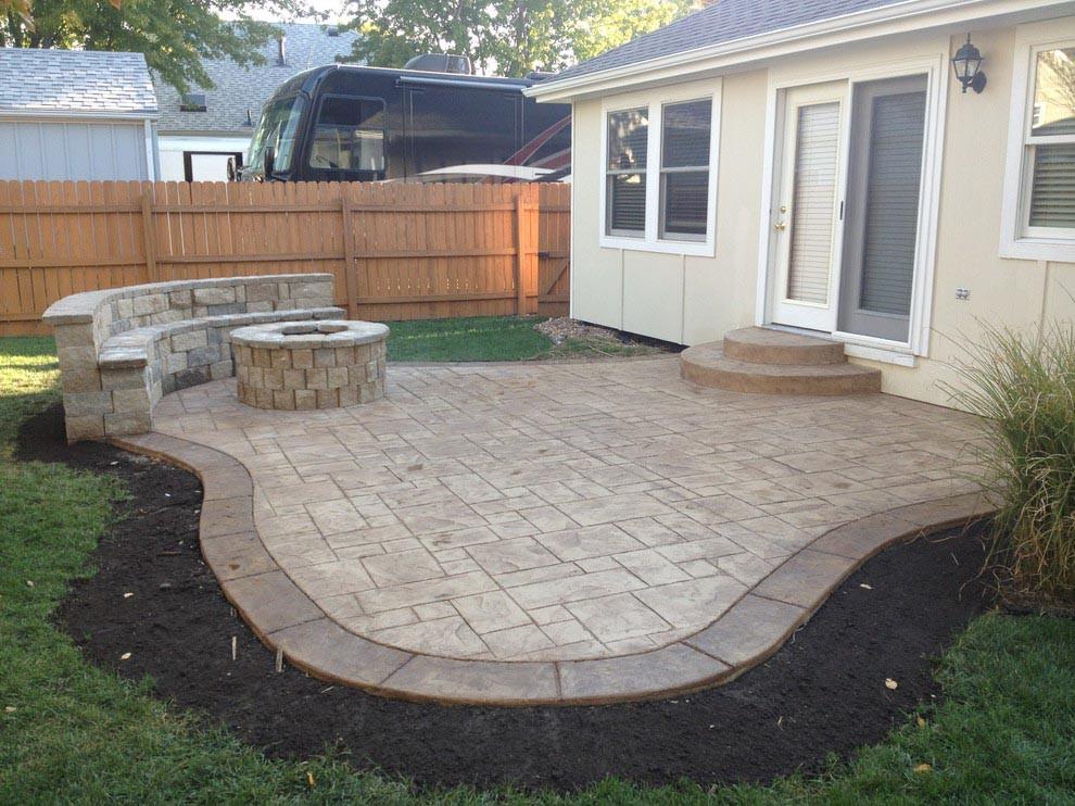 Best ideas about Concrete Patio Ideas . Save or Pin Concrete Patio With Fire Pit Now.