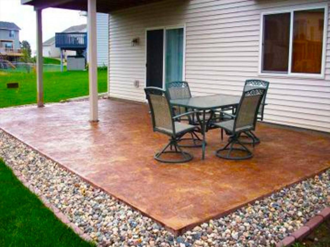 Best ideas about Concrete Patio Ideas . Save or Pin Cheap garden paving concrete patio design ideas plain Now.