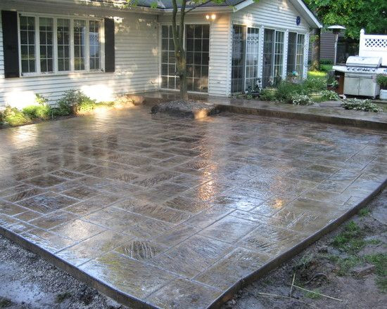 Best ideas about Concrete Patio Ideas . Save or Pin stain Patio Stamped Concrete Design Remodel Now.
