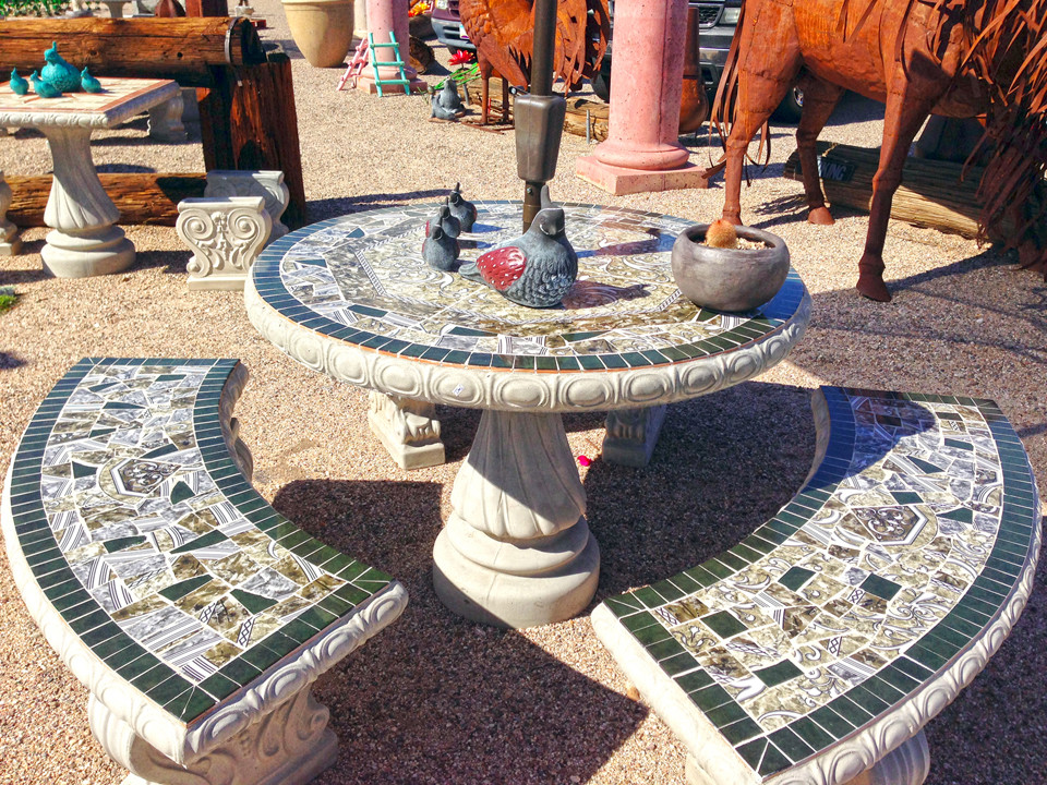 Best ideas about Concrete Patio Table . Save or Pin Concrete Furniture — Loya s Courtyard Now.