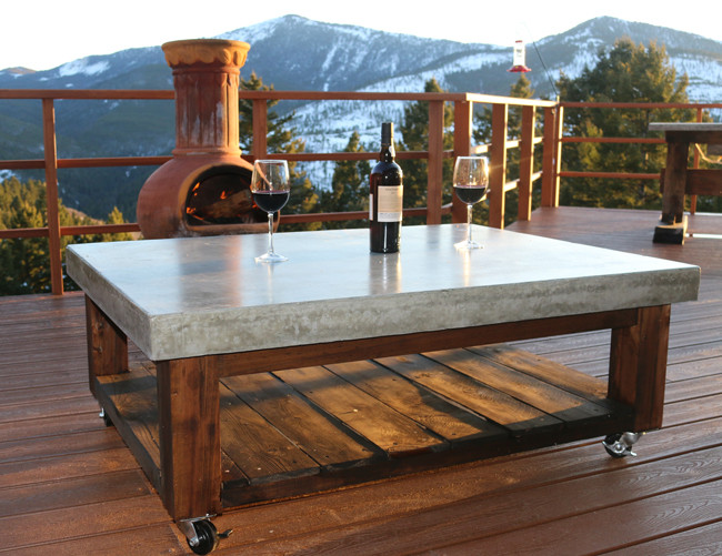 Best ideas about Concrete Patio Table . Save or Pin How to Make a Concrete Coffee Table Now.