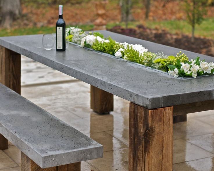 Best ideas about Concrete Patio Table . Save or Pin Outdoor Décor Trend 26 Concrete Furniture Pieces For Your Now.