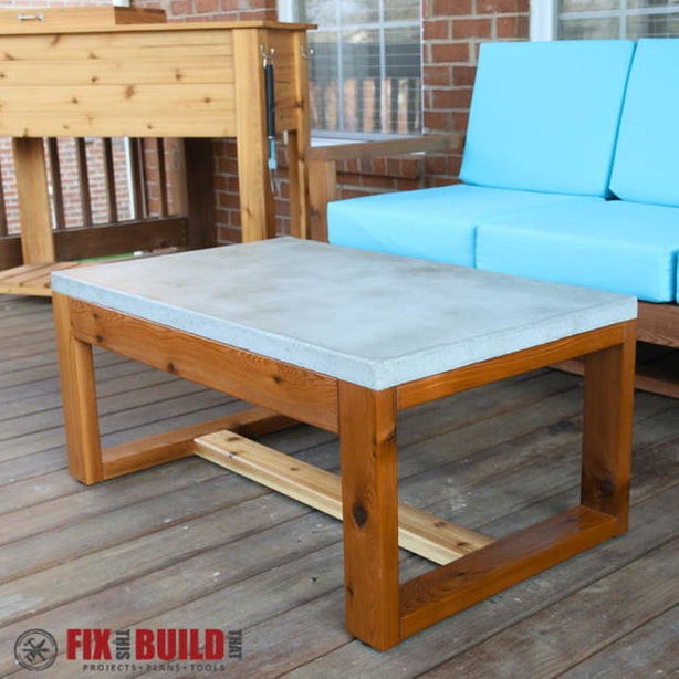 Best ideas about Concrete Patio Table . Save or Pin DIY Concrete Top Coffee Table Now.