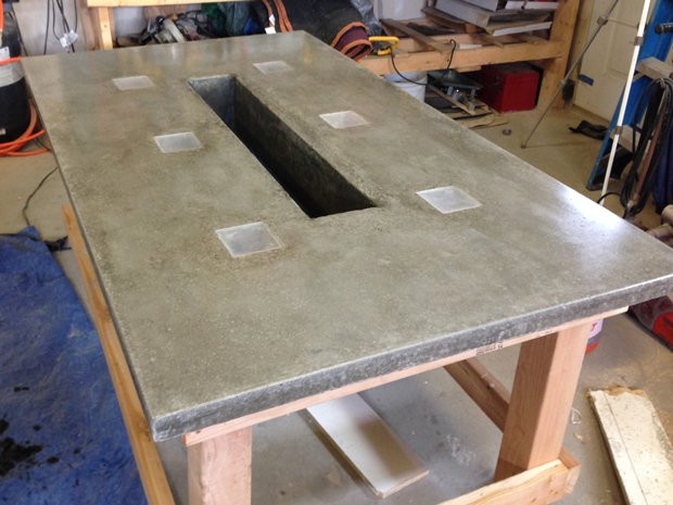 Best ideas about Concrete Patio Table . Save or Pin LED Concrete Patio Table with Built in Beverage Cooler Now.