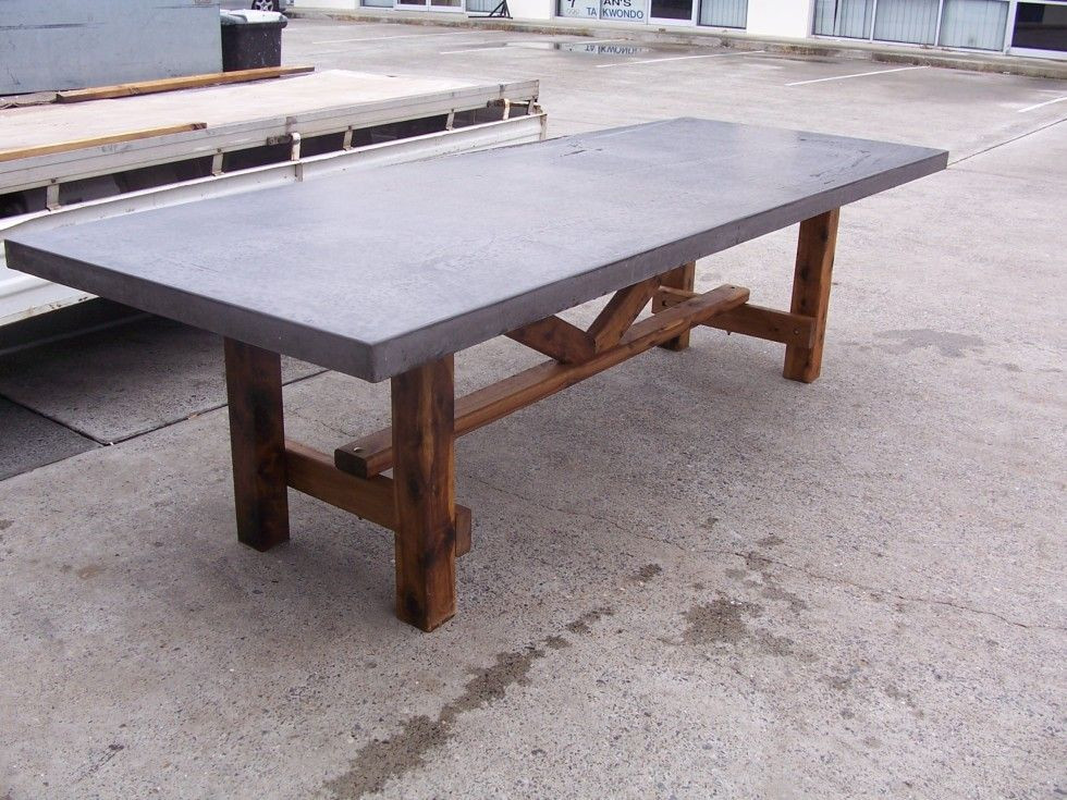 Best ideas about Concrete Patio Table . Save or Pin rustic patio table concrete top Now.