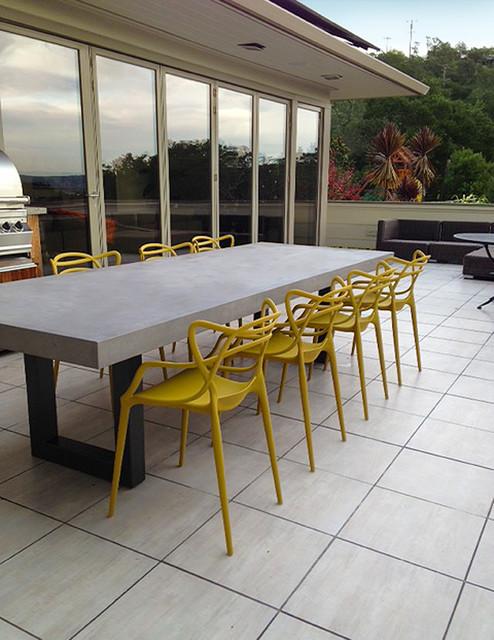 Best ideas about Concrete Patio Table . Save or Pin Contemporary Zen Outdoor Concrete Table Contemporary Now.