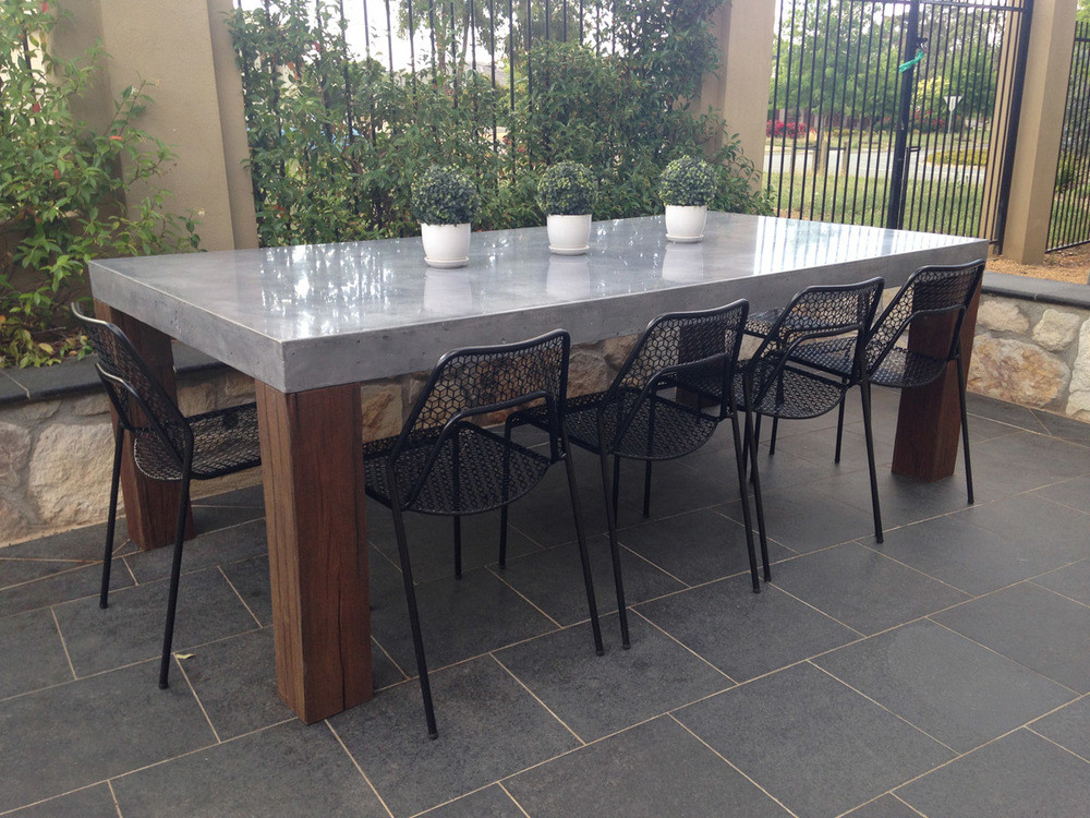 Best ideas about Concrete Patio Table . Save or Pin Pleasant And Durable Concrete Patio Furniture — Home Ideas Now.
