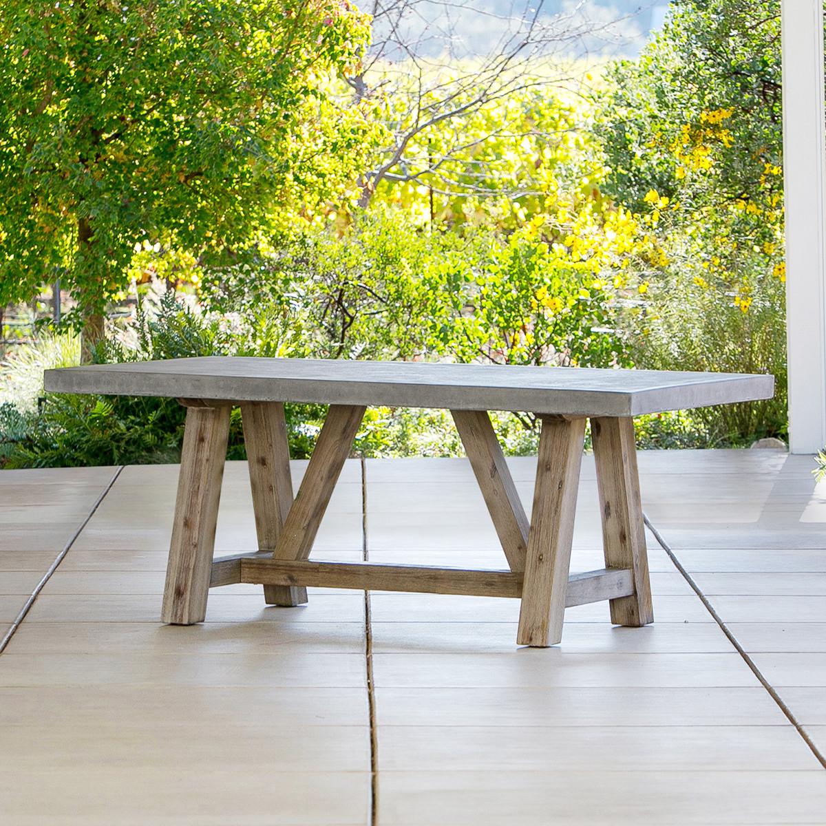 Best ideas about Concrete Patio Table . Save or Pin Bordeaux Concrete Top Table Outdoor Furniture Now.