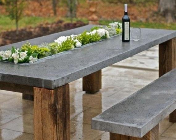 Best ideas about Concrete Patio Table . Save or Pin Items similar to Custom Indoor & Outdoor Concrete Tables Now.