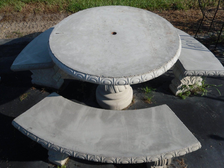 Best ideas about Concrete Patio Table . Save or Pin Outdoor Table Set Patio Table Concrete Patio Table Set Now.