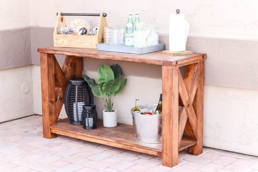 Best ideas about Console Table DIY . Save or Pin DIY Rustic Outdoor Console Table Great Outdoors Now.