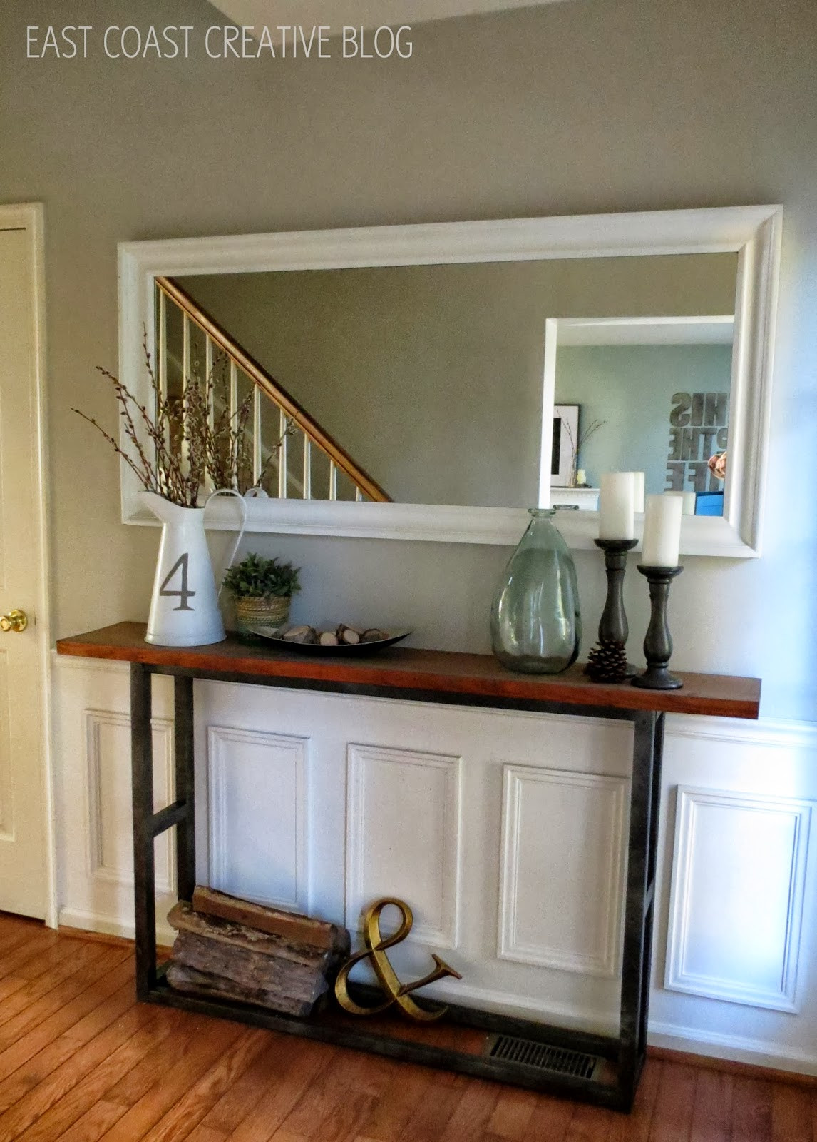Best ideas about Console Table DIY . Save or Pin DIY Console Table A Pottery Barn Knock f Now.