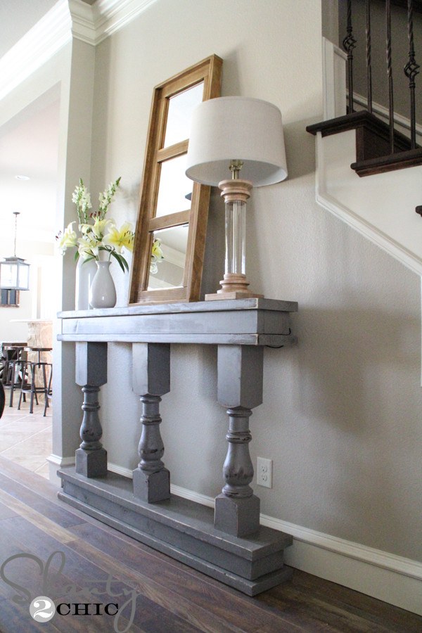 Best ideas about Console Table DIY . Save or Pin DIY Console Table Shanty 2 Chic Now.