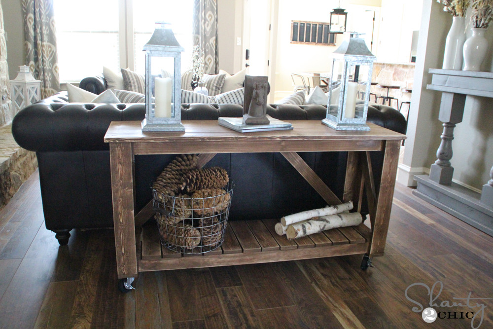 Best ideas about Console Table DIY . Save or Pin Easy DIY Console Table Now.