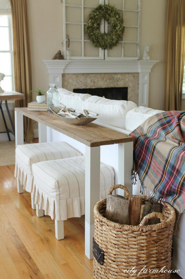 Best ideas about Console Table DIY . Save or Pin 20 Easy DIY Console Table and Sofa Table Ideas Hative Now.